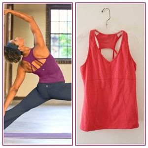 Athleta Equator strappy racerback support tank L